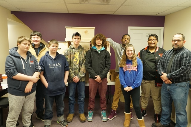 ACES Students Build Community Chests for WPBS Auction