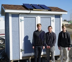 Electrical Wiring Students Finish Solar Greenhouse Project