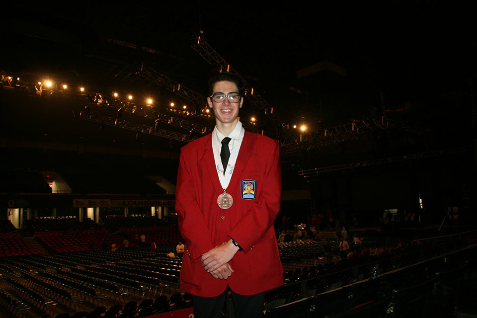 Wiring Tech. Graduate Wins Medal at Skills Nationals