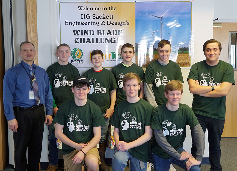 Students Tackle Wind Blade Challenge