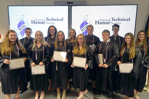 Sackett Center Students Inducted into National Technical Honor Society
