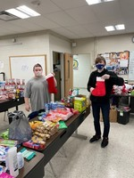 Pre-Tech Students Pack Holiday Gifts for Seniors