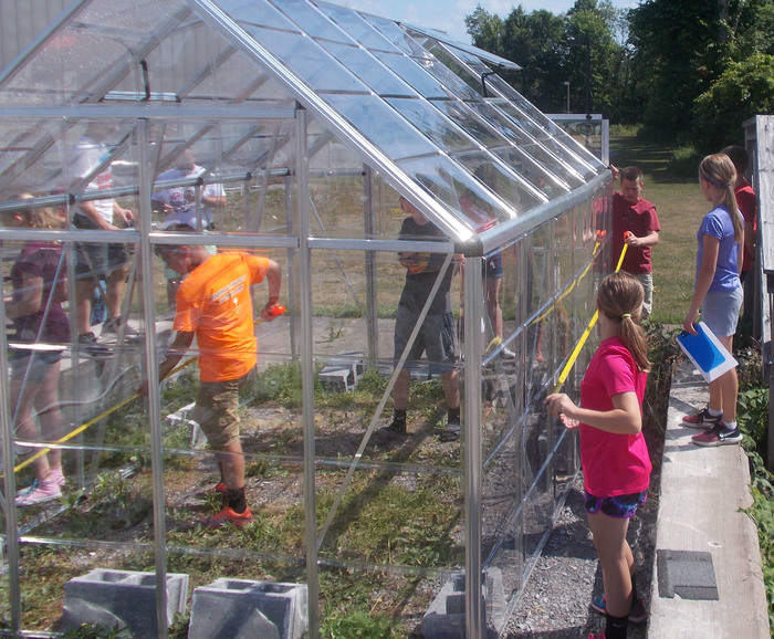 students work in BOCES greenhouse