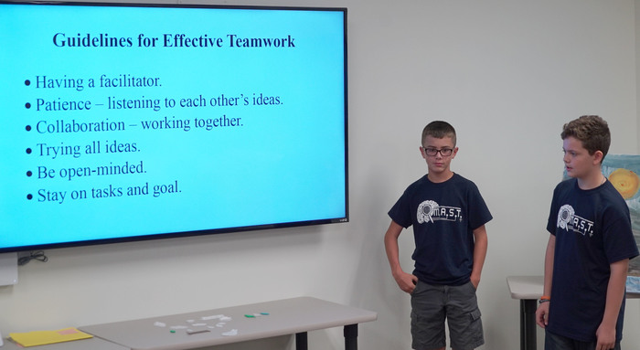 students outline guidelines for effective teamwork