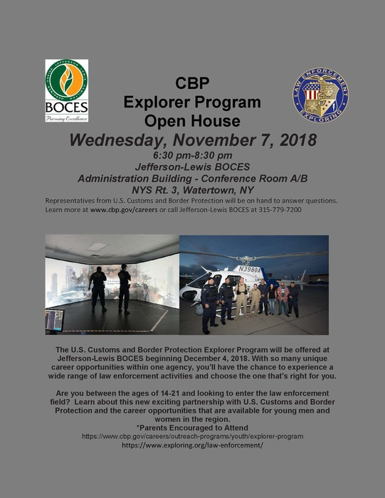 Explorer Program Open House Flyer