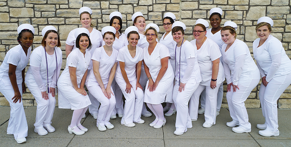 nursing graduates group shot