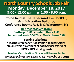 North Country Schools Job Fair flier