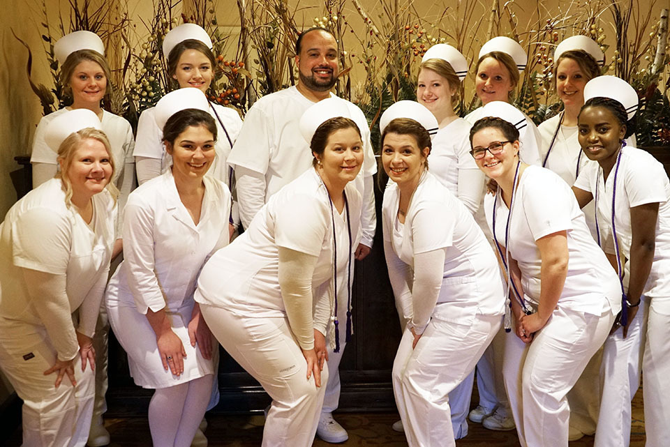 Group photo of the Practical Nursing graduates