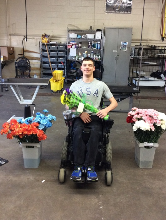 Ryan Berwick with flowers