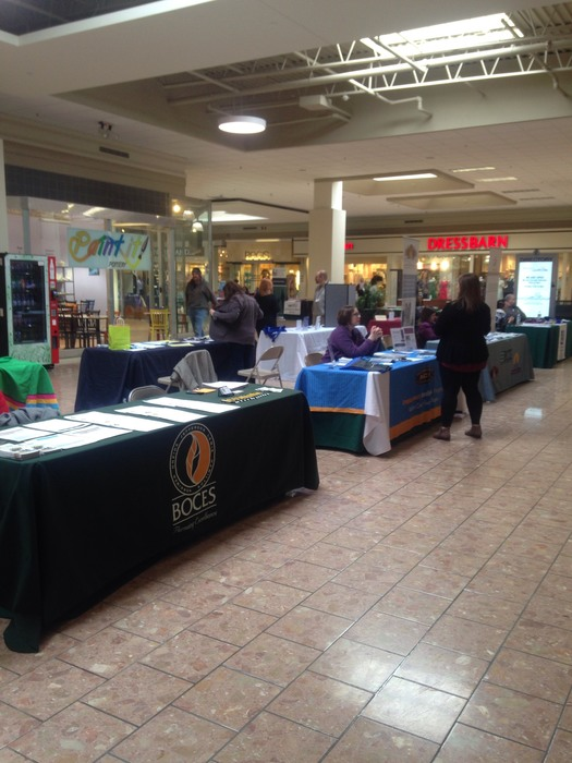 BOCES booth at Community Fair at Salmon Run Mall