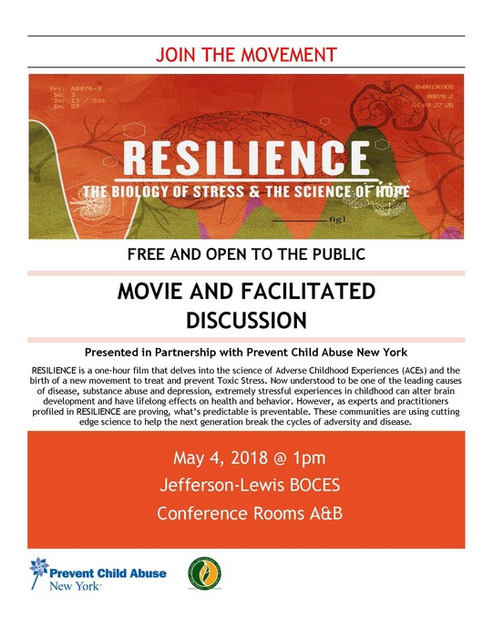 Resilience movie promotional flier