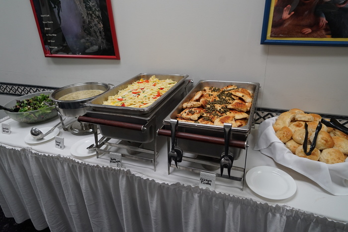 Food ready to be served at the annual meeting