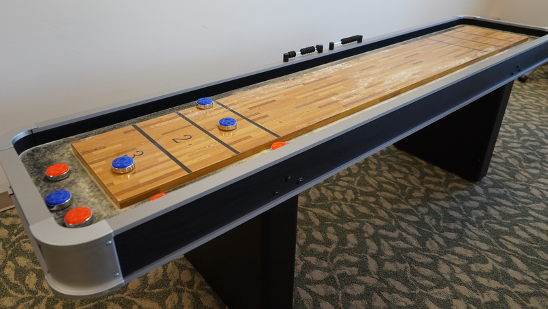 new shuffleboard for Meadowbrook residents in Carthage